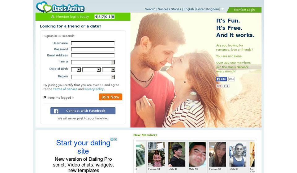 oasis dating site nu funcționează