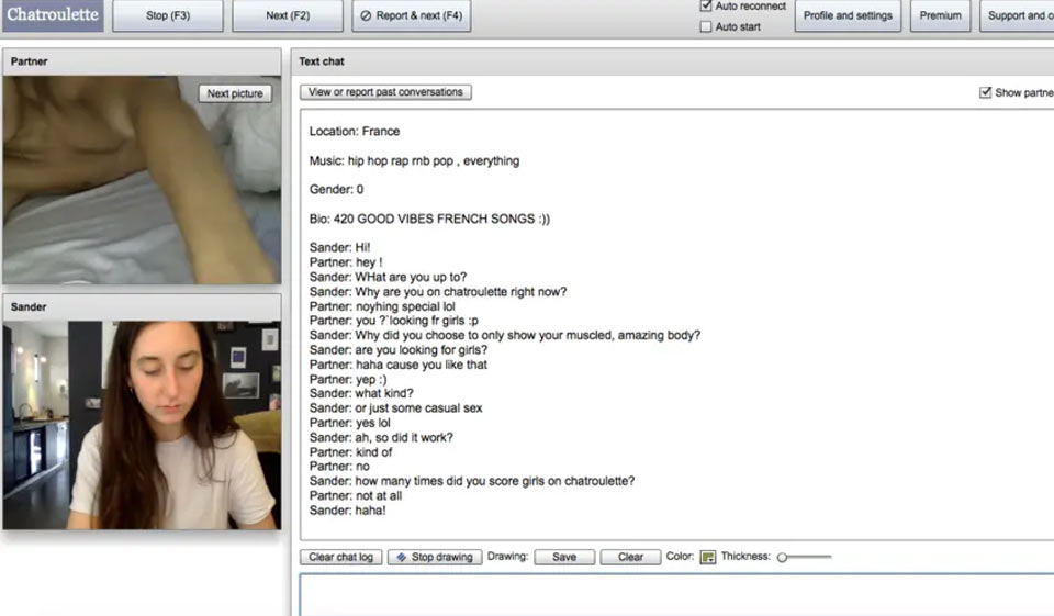 Chatroulette face Chatspin Random