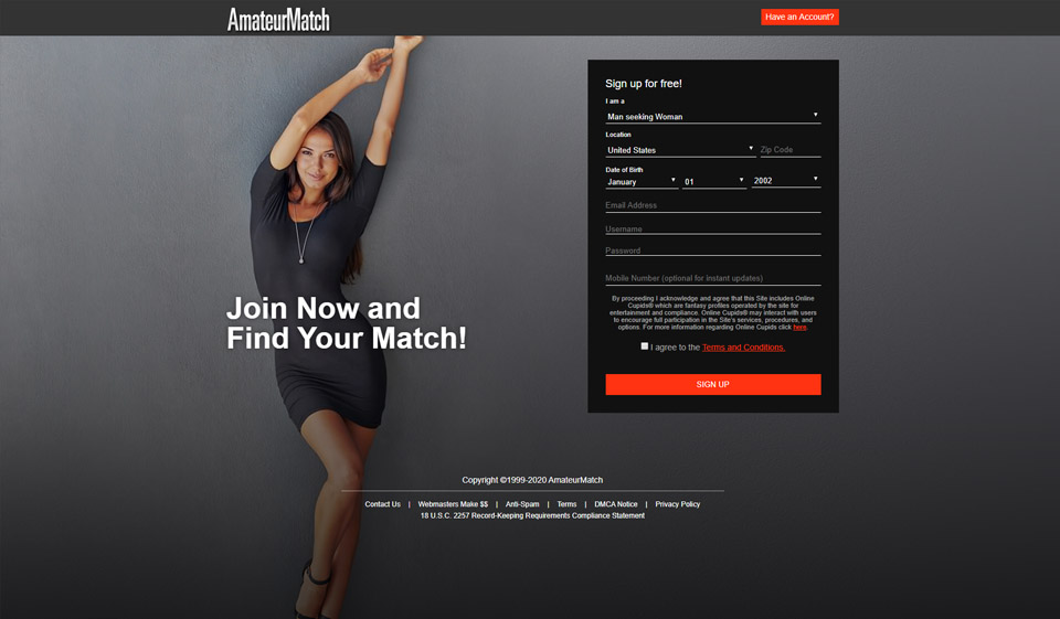 AmateurMatch Review 2021 – Perfect or Scam?