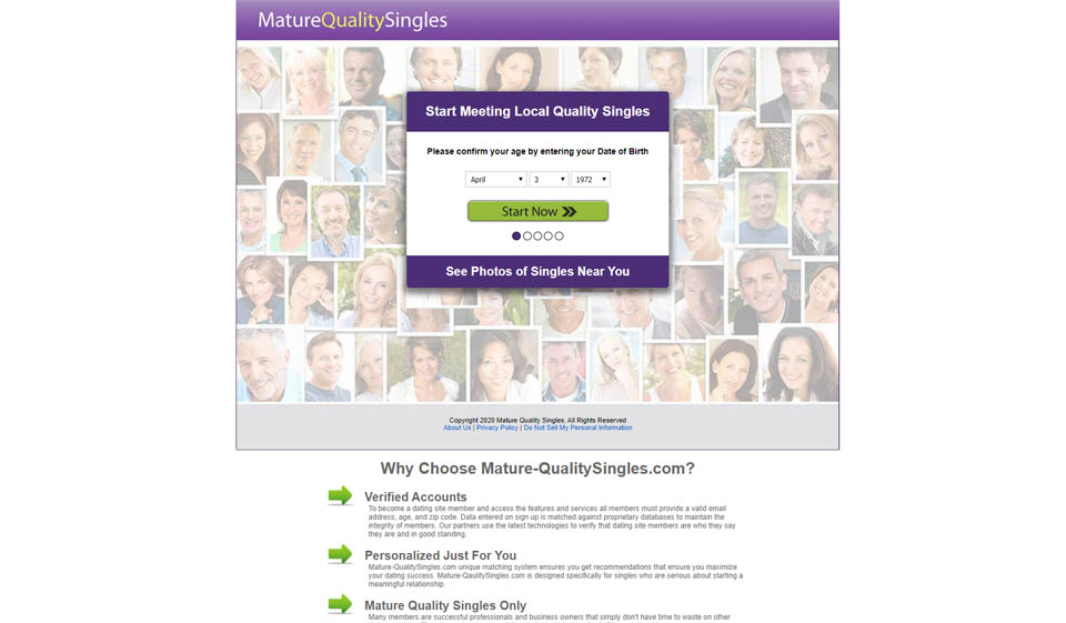 Mature Quality Singles Review 2021 – Perfect or Scam?
